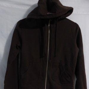 TNA, Aritzia, medium, brown zip front sweatshirt